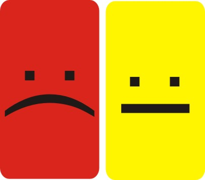 Resultado de imagem para Cartão amarelo e vermelho