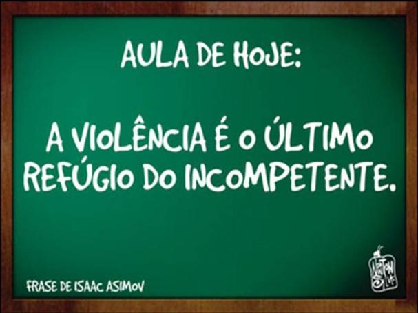 Resultado de imagem para Violência gera violência